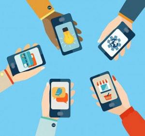 Illustration of smartphones